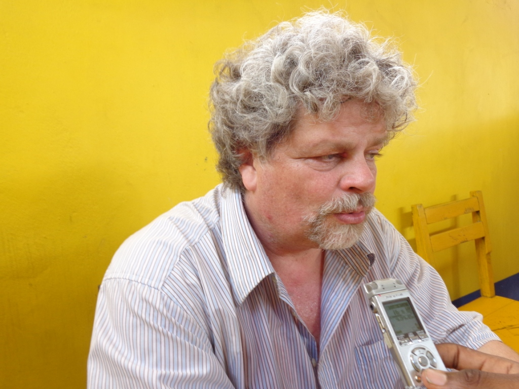 Benoit Lecomte, Chargé de programme à l'Ong Grad lors de sa visite au Bénin