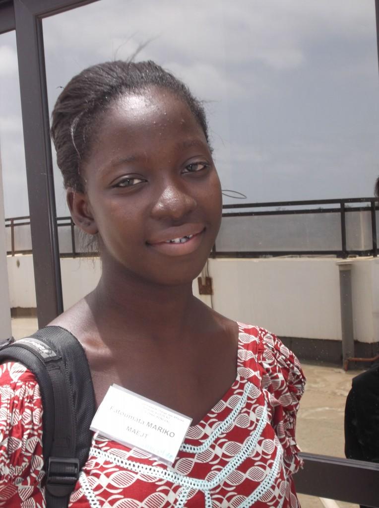 Fatoumata Mariko est une jeune malienne engagée dans le Mouvement Africain des Enfants et Jeunes Travailleurs (MAEJT) depuis 2009.